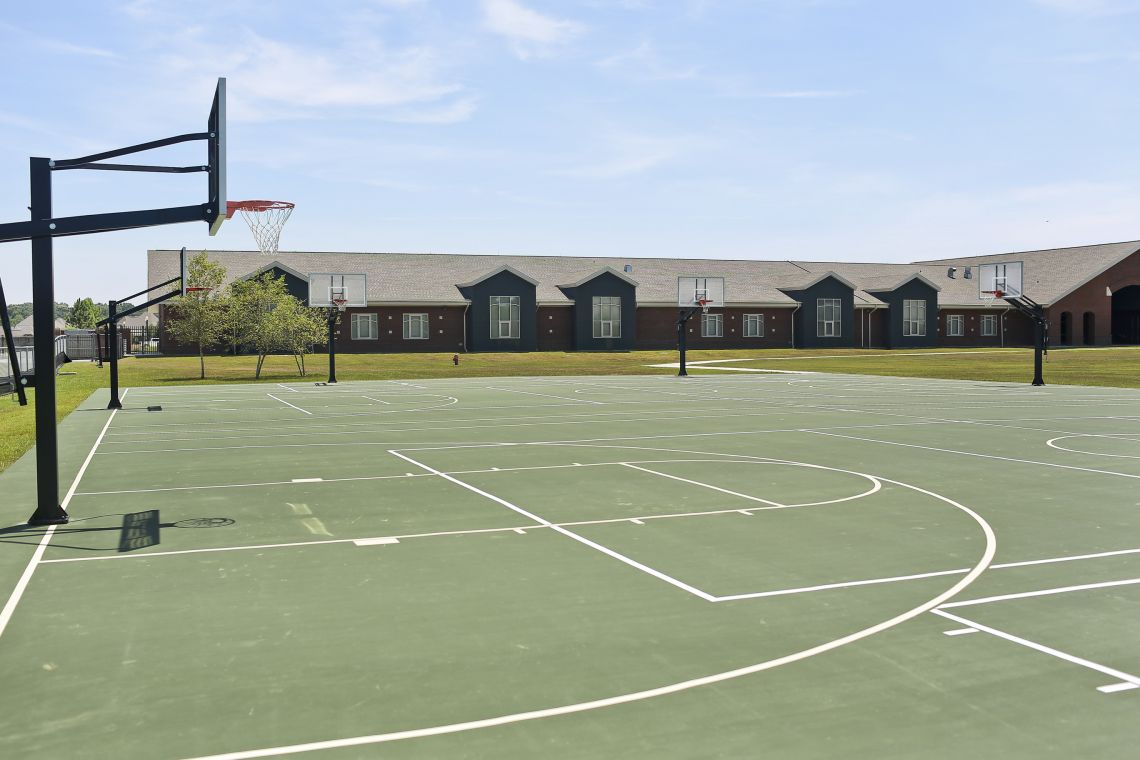 Copper Mill Elementary Basketball Court